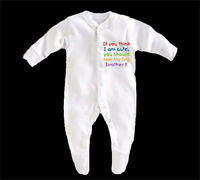 BabyGrow Boy/Girl/Unisex - If You Think Im Cute You Should See My Brother