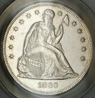 1860-O Seated Liberty Silver Dollar, ANACS MS-60 Details, Cleaned Coin
