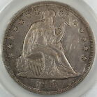 1847 Seated Liberty Silver Dollar, ANACS AU-50, Toned