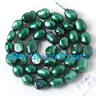 8-10MM FREEFORM DARK GREEN FRESHWATER CULTURED SPACER PEARL BEADS STRAND 15""