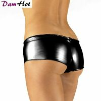SEXY HOT PANTS Shiny Stretchy Shorts Hotpants in Black Red Gold Blue Silver Pink