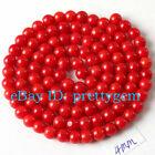 4MM ROUND SHAPE NATURAL RED CORAL GEMSTONE JEWELRY MAKING LOOSE BEADS STRAND 15""