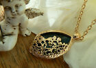 Unusual Gift for her Vintage Jewellery Art Deco Filigree Gold Boho Necklace Mum