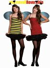 """Cute NWT Teen's Costume """"Bugging Out"""" Lady Bug Bee Reversible Costume Large"""