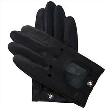 BMW Black Leather Driving Gloves with Roundel New OEM S-XL