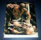 """ANDERSON """" THE SPIDER """" SILVA PP SIGNED 10""""X8"""" PHOTO REPRO UFC MMA"""