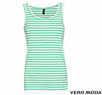 VERO MODA DAMEN  SHIRT SAILOR MARINA TANK TOP LONG TOP STRIPES GR. S,M,L,XL