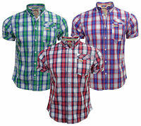 New mens Tokyo Laundry MH-28349 casual short sleeve check shirt S, M, L & XL