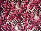 FLAMES PINK PLUMES FLAME COTTON FABRIC FQ OOP