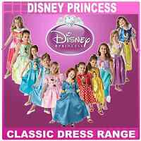 New Disney Princess Girls Fancy Dress Costume Childrens Child Outfit 3-8 Years