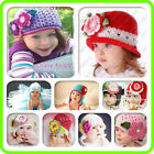 Cute handmade Crochet knit Beanies Hats for Baby Toddler Boy Girl variety style