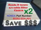 x 2 CABIN AIR FILTER For HONDA ACURA Accord Civic CRV Odyssey Double Pack Save$$