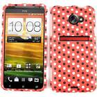 Polka Dots on Red Faceplate Snap on Case Cover for HTC Evo 4G LTE Accessory