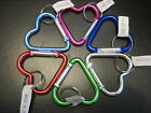 1 pc Metal Heart Carabiner Key Chain / Size 2 1/8