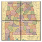 Ceramic Alabama Map Coaster Set of 4 Souvenir from Online Gift Store