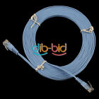 5M 15FT CAT 6 Flat UTP Ethernet Network Cable Patch LAN Cord 8P8C RJ45