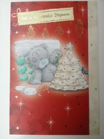 STEPMUM CHRISTMAS CARD ME TO YOU TATTY TEDDY CUTE CARTE BLANCHE