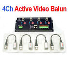 4Ch Active Video Balun BNC to UTP Cat5 1200M for CCTV Security Camera DVR System