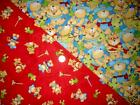2 Fat Quarters FABRIC - COWBOYS & INDIANS BEARS 100% Cotton Quilting Fabric