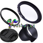 58mm lens hood+ lens filter+lens cap+ adapter ring set For Canon PowerShot G1X