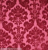 Voyage Lucilla Lorient Pink Chenille Designer Curtain Upholstery Fabric