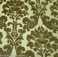 Voyage Lucilla Lorient Green Chenille Designer Curtain Upholstery Fabric