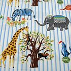 fq yd Patchwork Quilting Fabric Michael Miller Circus Escapees PC5293_Blue