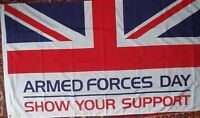Armed Forces Day Flag 3x2 Afghanistan/Iraq Soldiers Army Navy RAF Veterans bnip