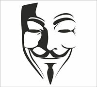 V for VENDETTA Anonymous Mask Guy Guido Fawkes decal sticker vinyl wall art V1
