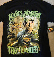 Swamp People History Channel Troy Landry NO GUTS NO GATOR  Alligator T-Shirt