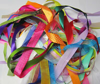 60 Meters Ribbon Off Cuts **Assorted Colours, Types & Sizes Included**