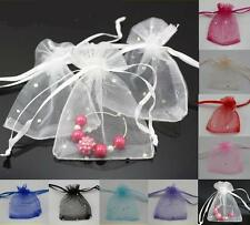 TOP QUALITY ORGANZA BAGS 7cm x 9cm WEDDING FAVOUR GIFT JEWELLERY 9 COLOURS