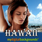 HAWAII Digital Backgrounds Vacation Studio Photography Backdrops!