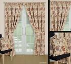LINED Natural Tapestry Jacquard Curtains + Ties 9 Sizes - JACOBEAN