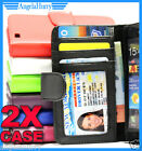 Samsung Galaxy S2 i9100 Wallet Credit ID Card Flip Leather Pouch Case Cover