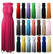 Ladies Spring Coil Maxi Dress Long Jersey Stretch Dresses Womens Casual Summer