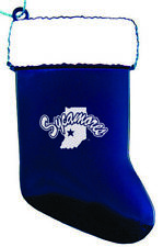 Indiana State University - Chirstmas Holiday Stocking Ornament - Blue