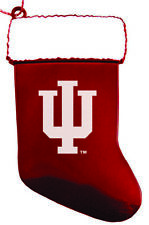 Indiana University - Chirstmas Holiday Stocking Ornament - Red