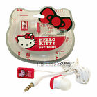 Hello Kitty 11409-HK Pink Earbuds Headphone for iPod/iPhone/iPad or MP3 Players