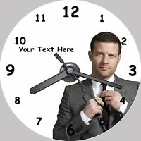 Dermot O'leary - Personalised CD Clock - FREE desktop stand