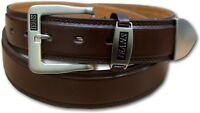 "NEW MENS BROWN LEATHER LINED JEANS TROUSER BELT SIZE 32"" - 60"" MEDIUM - 5XL 5055"