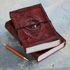 Indra Fair Trade Handmade XL Stitched Embossed Stoned Leather Journal Diary