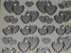 Wedding Peel off Stickers -2 Sheets Mixed Hearts SILVER