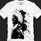 New Indian Skull Sumie T-shirts Made in Korea 100% Cotton Top Quality Size S~XXL