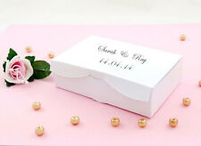 White * Personalised Wedding Cake Slice Sweet Favours Boxes Birthday Party Gift
