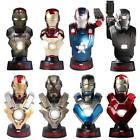 Iron Man 3 Hot Toys Deluxe Set 1/6 Scale Light-Up Bust Set of 8 Marvel
