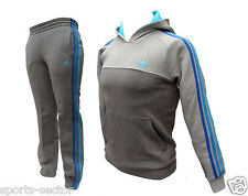 Adidas ESS 3S Hooded Children/Kids Tracksuit Grey/Blue Size 11-12 Years