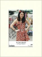 RACHEL BRIGHT POPPY MEADOW EASTENDERS HAND SIGNED AUTOGRAPH PHOTO 10X8 MOUNTED