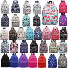 MENS BOYS GIRLS RETRO BACKPACK BAG SCHOOL MESSENGER COLLAGE TRAVEL WORK RUCKSACK