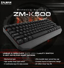 Zalman ZM-K500 Gaming USB Keyboard - Mechanical - 5 Multimedia Keys
